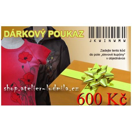Dárkový poukaz 600 Kč