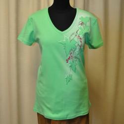Dámské tričko Kočky květinové XL, malinová