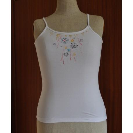 Dámské tričko perličkové Stela S bílé