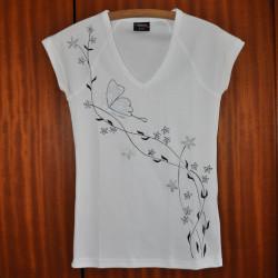 Dámské tričko Motýlí černobílé