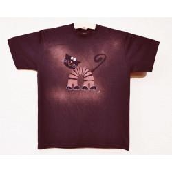 Pánské tričko Kocour bordó S