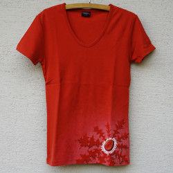 Tričko Pupava dole cihlová L